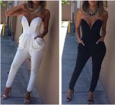 Fashion Rompers Womens Jumpsuit Sexy Macaquinho Outono Inver